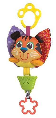 Playgro 0183299 Musical Pull String Tiger for Baby (Stroller Toy Blossom)