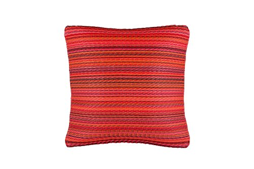 (Fab Habitat Outdoor Accent Pillow, UV & Weather Resistant, Recycled Plastic - Cancun - Sunset (20