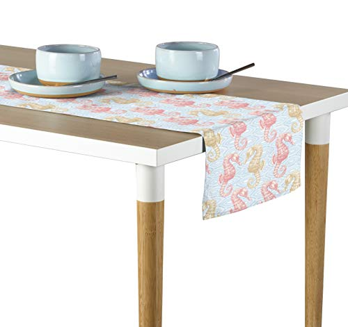Milliken Marine Life Seahorses Coral Signature Table Runner - Assorted Sizes (14