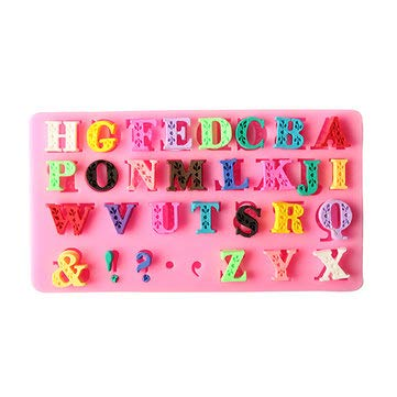 Alphabet Silicone Mold Capital Letter Punctuation Fondant Biscuit Cake Mould - Bakeware & Accessories Fondant Pastry Moulds]()