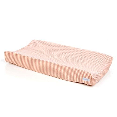 Glenna Jean Maddie Changing Pad Cover, Pink/Tan Check