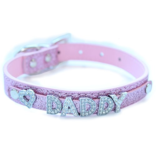 Baby Kayxx Daddy Dom DDLG Collar (Pink Glitter) by Baby Kayxx