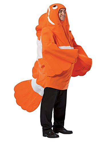 Clownfish Costume - One Size - Chest Size (Fish Halloween Costume For Adults)
