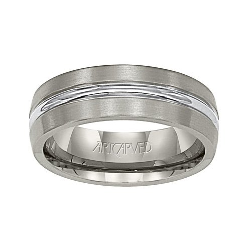 - 11-WV2018T Centurion Titanium Wedding Band from ArtCarved