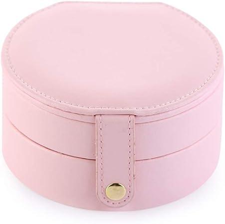Huangjiahao Joyero Caja de joyería portátil de múltiples Capas Vitrina Caja de joyería pequeña Pendientes de Cuero Pendientes Almacenamiento día de San valentín (Color : Pale Pink): Amazon.es: Hogar