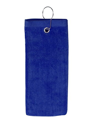 Velour Bag Towel (Simplicity 100% Cotton Terry Sports Golf Towel with Grommet and Hook, Royal2101)