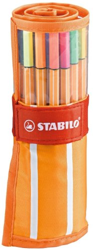 STABILO point 88 30er Rollerset, 25 + 5 Neonfarben - Fineliner