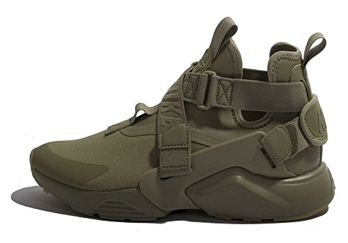 Nike Damen Air Huarache City Sneaker Grün (Neutral Olive-Black 200)