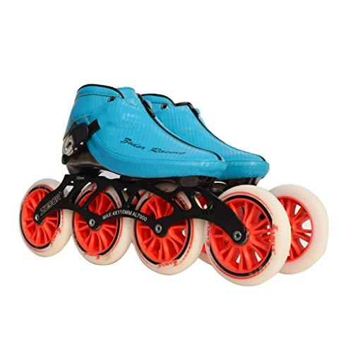 花束忌み嫌うマキシムailj スピードスケートシューズ90MM-110MM調整可能なインラインスケート、ストレートスケートシューズ(3色) (色 : Red, サイズ さいず : EU 44/US 11/UK 10/JP 27cm)