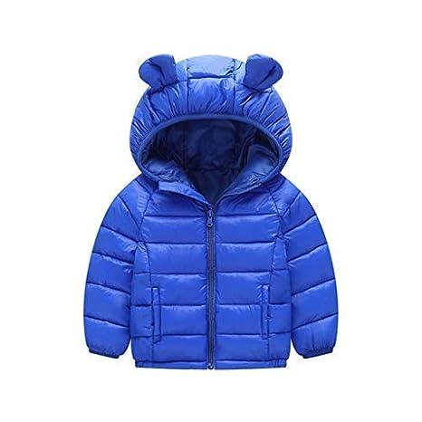 Kids Winter Hooded Jacket Down Coat Warm Waterproof Lightweight Tops Outfits 2-3 Years