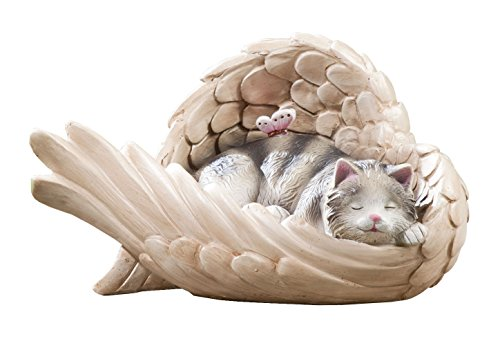 Miles Kimball Resin Cat in Angel Wing ()