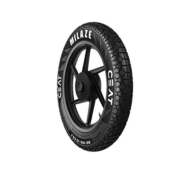 Ceat Milaze 3.00 - 18 52P Tubeless Bike Tyre, Rear