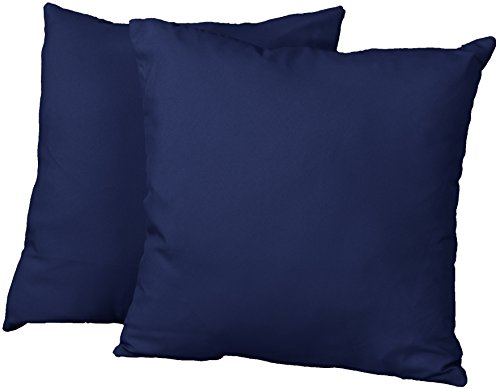 Square Throw Pillow Sizes : Cheap Better Fit Decorative Throw Pillows Set of 2, 18-inch Square-size, Twill Navy Blue [Sofa ...