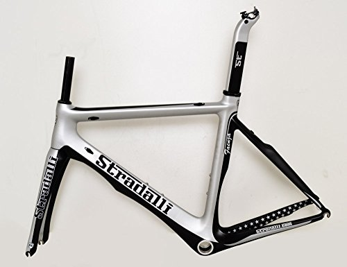 Stradalli Carbon Fiber Aero Road Bicycle Cycling Bike Frame Faenza Silver Black