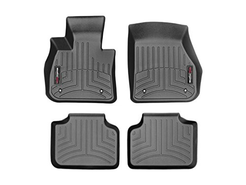 2016 BMW X1 Full Set Floor Liners 1st and 2nd Rows (Black) by WeatherTech (Image #3)