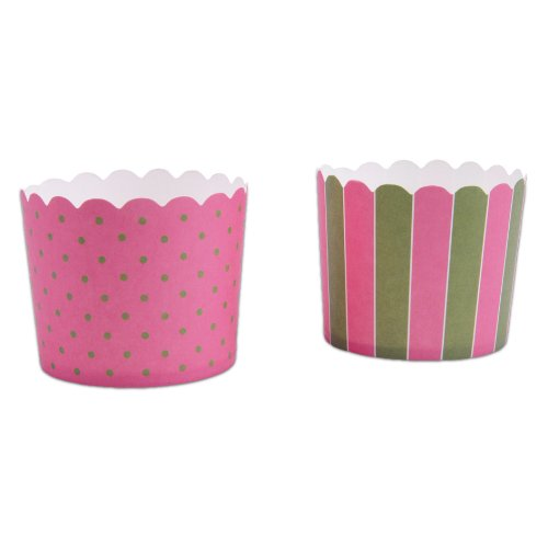 Städter Cupcake-Form Maxi 12er, Papier-Backform, Rosa-Grün