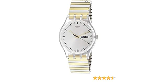 Amazon.com: Swatch Originals Distinguo Silver Dial Stainless Steel Unisex Watch SUOK708A: Swatch: Watches