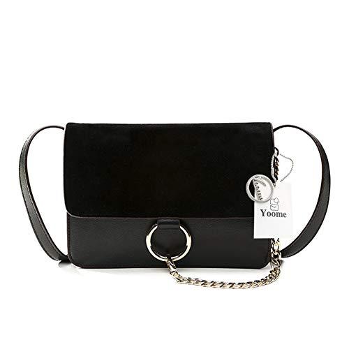 - Yoome Women Fashion Ring Shoulder Bags Designer Chain Link Crossbody Purse Handbags