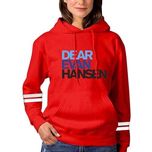 Womens Hoodie Dear-Evan-Prime-Hansen Sweatshirt Pullover Graphic Hooded Long Sleeve Funny Sweater XL Red