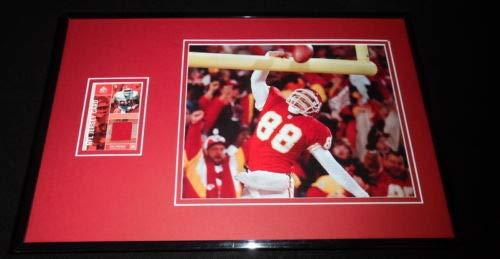 Tony Gonzalez Framed 11x17 Game Used Jersey & Photo Display Chiefs ()