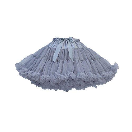 Jupon Femme en Gris Princesse Tutu Robe Rockabilly Tulle Crinoline sous Pliss Bouffe Petticoat KVbaby Annes 50s Princesse EUSwq1d8U