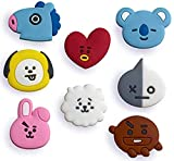 BT21 Croc Shoe Charm BTS Jibbitz 8 PCS Set