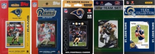 NFL Saint Louis Rams 5 Different Licensed Trading Card Team Sets