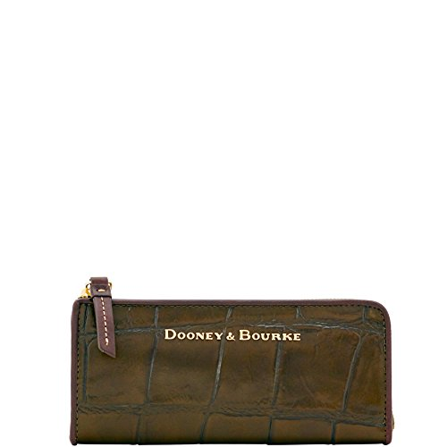 Collection Clutch Croco (Dooney & Bourke City Croco emb Leather Zip Clutch Olive YX155OL)