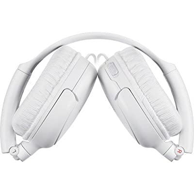 Sony Over the Ear Noise Canceling Headphones With Bonus In-flight Plug Adapter (White)