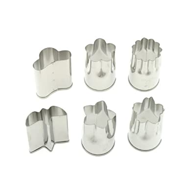 Kotobuki Set of 6 Small Stainless Vegetable Cutters