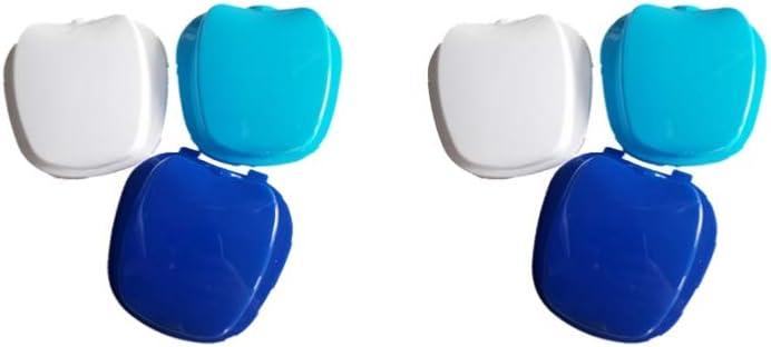 Milisten - Lote de 2 casos de prótesis dental, caja de baño para prótesis dentales: Amazon.es: Salud y cuidado personal