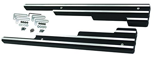 Pirate Mfg Finned Black Aluminum Spark Plug Wire Looms Holders Sbc BBC 302 350 454 -
