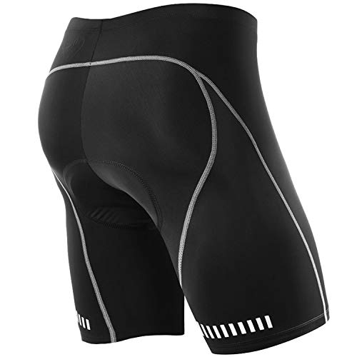 NOOYME Men's Cycling Shorts 3D Gel Padded Bicycle Riding Men's Bike Shorts (XL, Black)