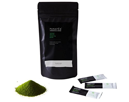 Green Instant Tea (PANATEA Instant Matcha Packets Ceremonial Grade Green Tea Powder Single Serving Matcha On The Go Travel Packs (30 Count))