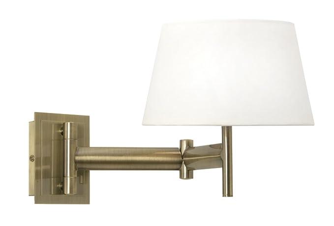 Oaks Lighting Finlay Antique Brass Adjustable Swing Arm Wall Light