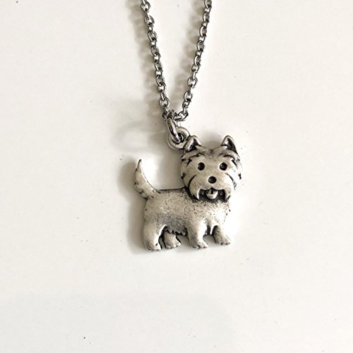 West Highland Terrier Dog Necklace - Westie Dog Breed Jewelry - Gift for Dog Lover