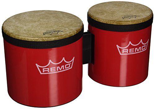 Remo BG-5300-52 Festival Bongo Drum - Red, 6''- 7'' by Remo