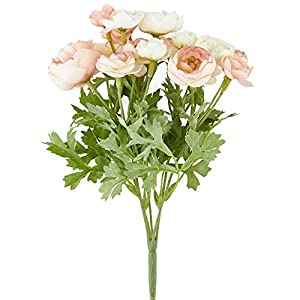Factory Direct Craft Mini Artificial Ranunculus Bush 118