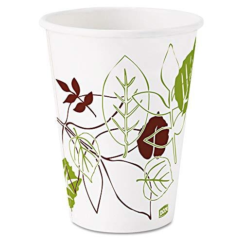 Dixie Pathways Paper Hot Cups, 12oz, 25/Bag, 20 Bags/Carton