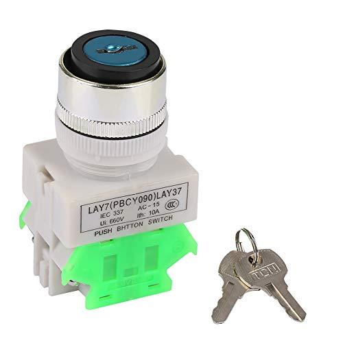 LAY37-20Y/31 3 Position Key Lock Rotary Switch Key Locking Push Button Power Switch Keys 22mm Mount