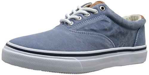 Sperry Top-Sider Men's Striper LL CVO Saltwash Fashion Sneaker, Light Blue, 11 M US