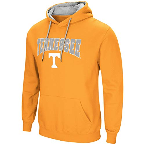 Colosseum NCAA Men's-Cold Streak-Hoody Pullover Sweatshirt with Tackle Twill-Tennessee Vols-Orange-Medium ()