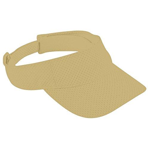 Augusta Activewear Athletic Mesh Visor-Adult, Vegas Gold, One Size