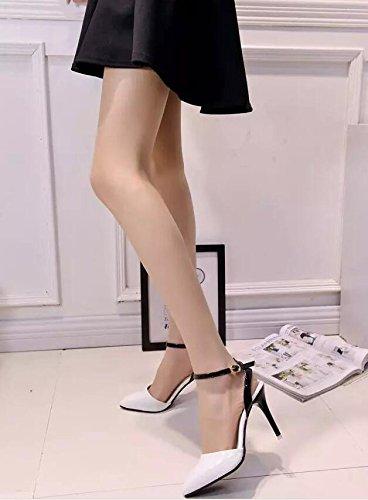 2016 Frühjahr neue Damen-Schuhe mit hohen Absätzen flacher Mund Weiß