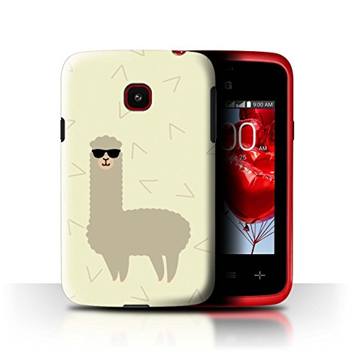 D100 Shade - STUFF4 Phone Case / Cover for LG Optimus L20/D100 / Cool Shades Sunglasses Design / Cartoon Alpaca Collection