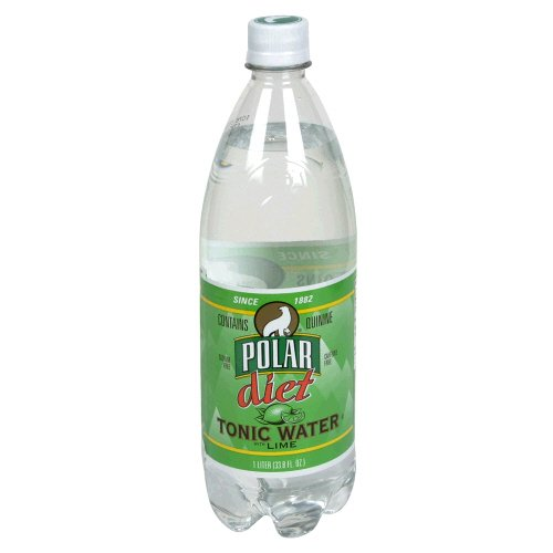 Polar Tonic Water, Diet, Lime, 33.8 Fl. Oz, ( Pack of 6 )