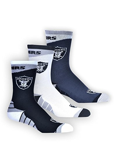 NFL Officially Licensed Team Apparel 3-Pack Crew Socks, used for sale  Delivered anywhere in USA
