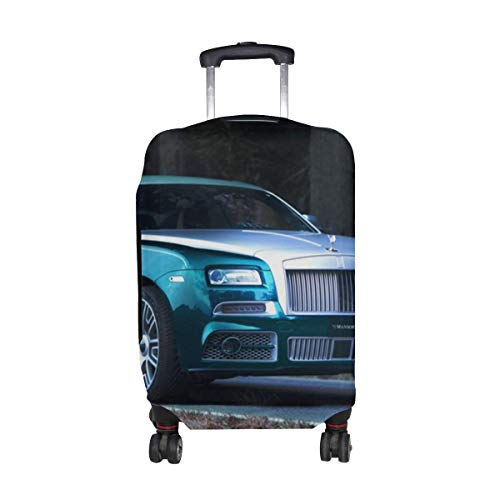 Tuning Mansory Coupe Rolls Royce Wraith Pattern Print Travel Luggage Protector Baggage Suitcase Cover Fits 18-21 Inch Luggage