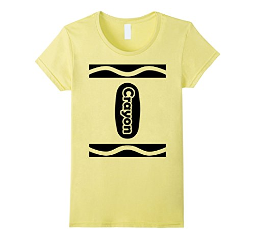 Women's Funny Cute Crayon Halloween Costume T-Shirt Choose Colors Medium Lemon (Funny Cute Women Halloween Costumes)