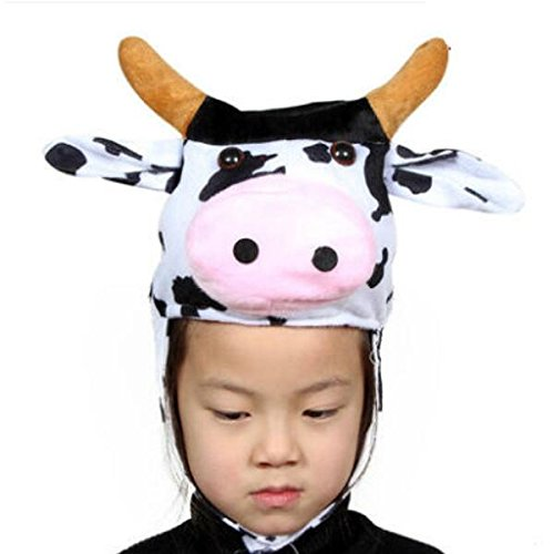 Sevenpring Chic Design Cute Kids Performance Accessories Cartoon Animal Hat (Cow) by Sevenpring